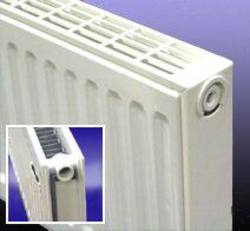Double panel single convector radiator 300 high x 600 long, Output 500w