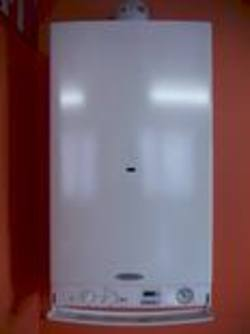 Biasi Riva 32KW wall hung gas combination boiler with 15 L per minute domestic Hot water flow rate